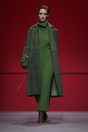 Total green in verde per Salvatore Ferragamo