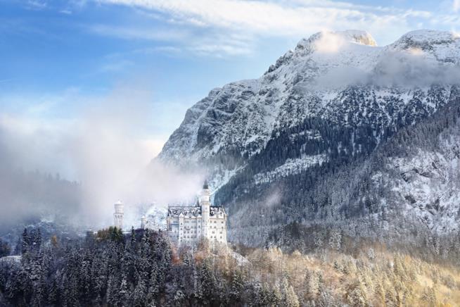 Panorama invernale con il Castello di Neuschwanstein
