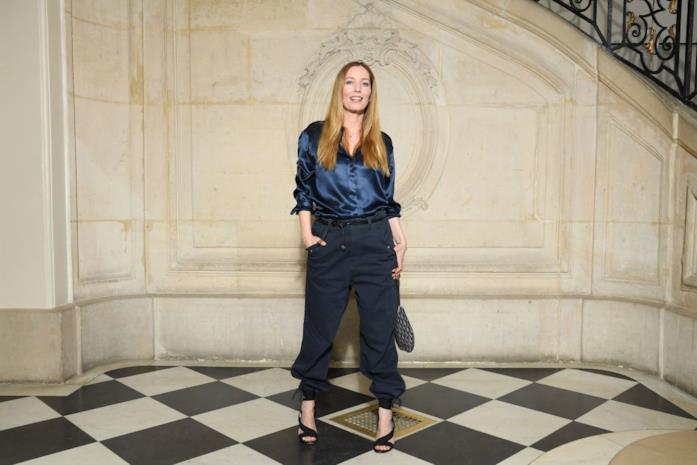 Lucie de la Falaise in front row da Dior
