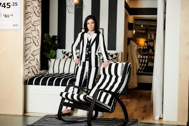Il tessuto Sofia nella collezione di vestiti Ikea