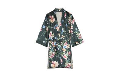 Kimono in velluto fiori Woodland