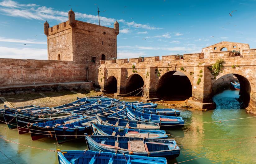 Le mura e i cannoni della Qasba