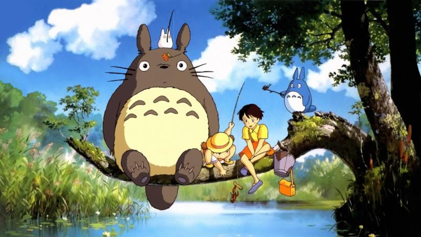 Una scena de Il mio vicino Totoro di Hayao Miyazaki