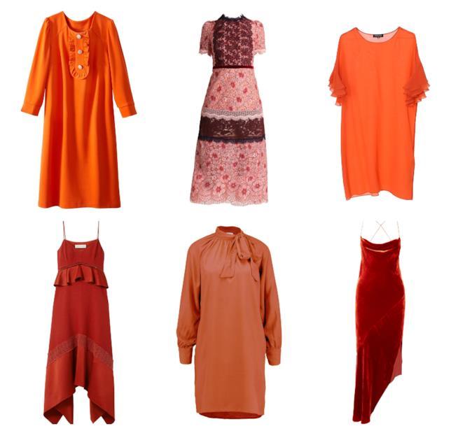 Abiti colore terracotta di moda per l'estate e autunno 2018