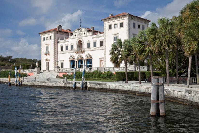 Vista del palazzo neorinascimentale più famoso di Miami: Villa Vizcaya