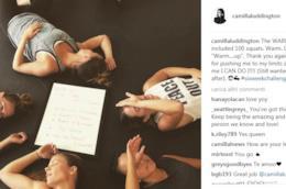 Il post con cui Camilla festeggia la fine dell'allenamento
