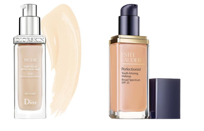 Diorskin Nude e EstèeLauder Perfectionist Youth-Infusing Makeup