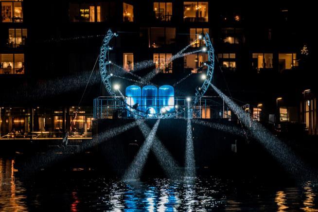 Gioco di luci a Copenhagen in occasione del Light Festival