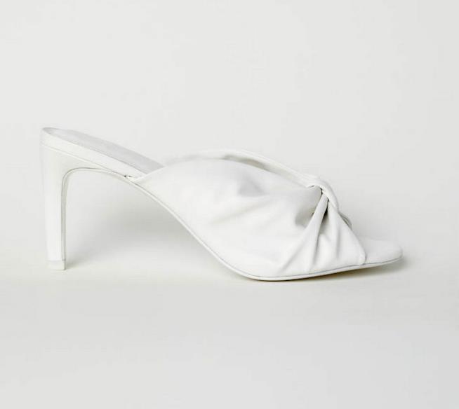 Sabot bianchi con tacco H&M