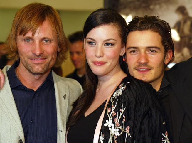 Viggo Mortensen ,Liv Tyler ed Orlando Bloom
