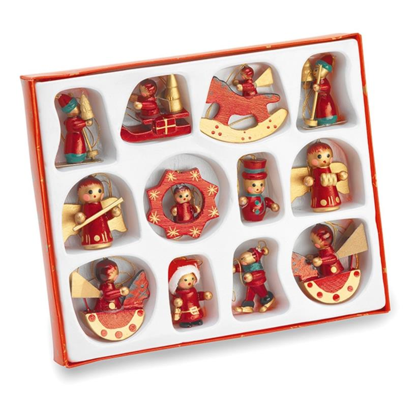 Set di 12 decorazioni per l'albero di Natale