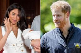Collage tra Harry e Meghan e il Royal Baby