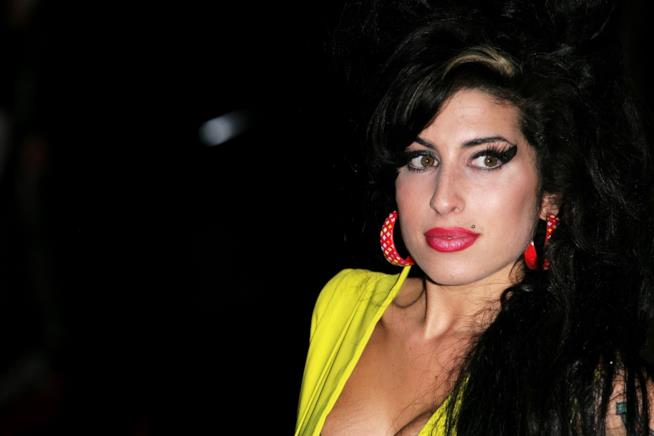 Amy Winehouse in primo piano