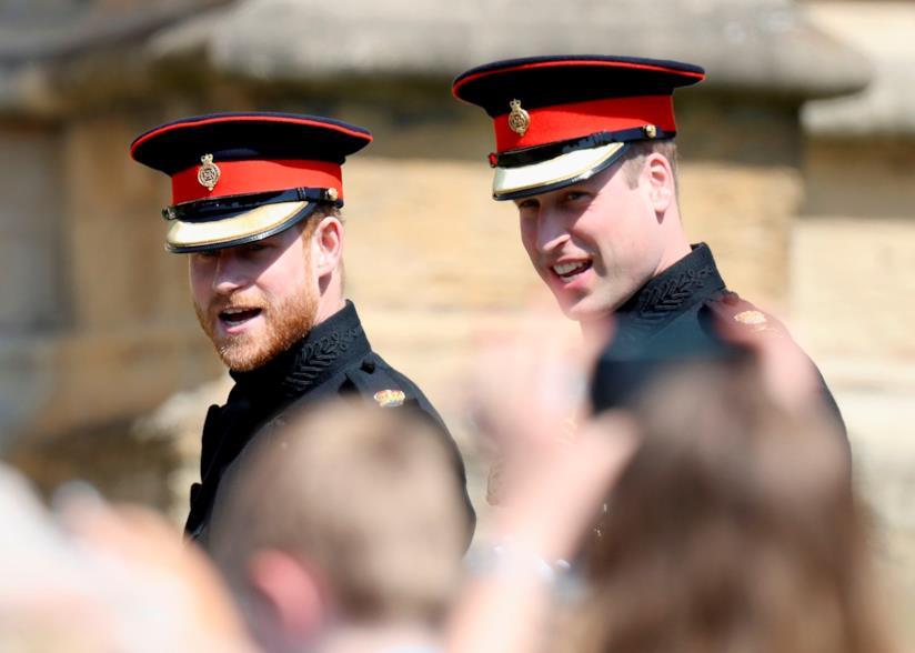 Harry e William verso la chiesa