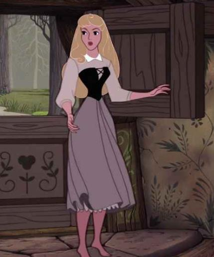 Il costume di Aurora ne La Bella Addormentata nel Bosco