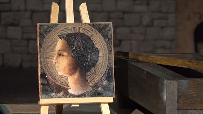 Larcangelo gabriele di leonardo da vinci in mostra a roma