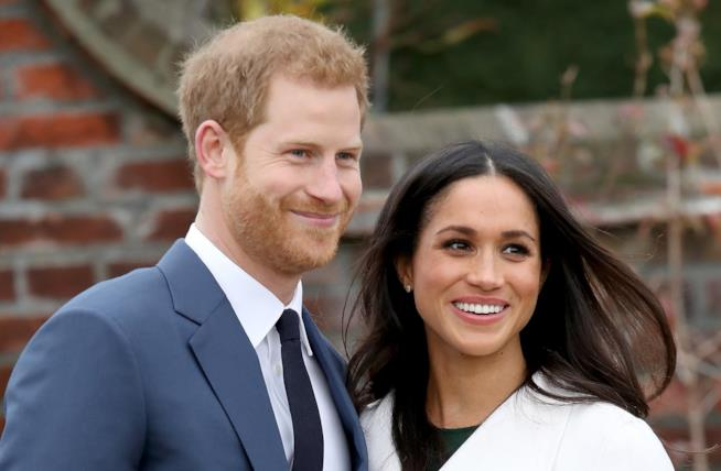 Harry e Meghan in primo piano