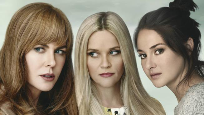 Nicole Kidman, Reese Witherspoon e Shailene Woodley nel poster