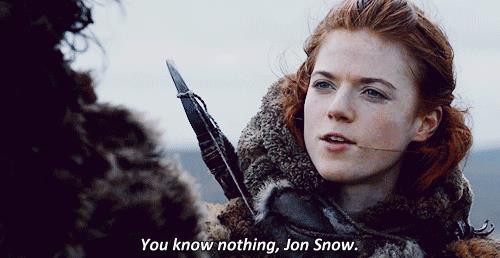 Ygritte dice a Jon che non sa niente