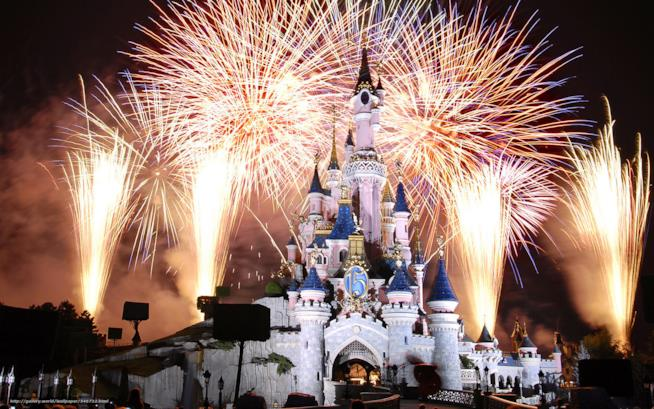 Fuochi d'artificio a Disneyland