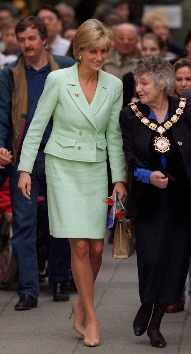 Lady Diana in tailleur verdeacqua