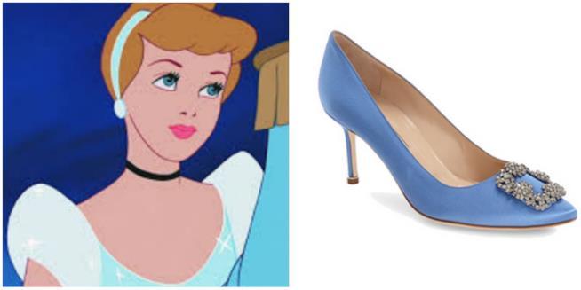 La scarpa di Manolo Blahnik sul modello di Cenerentola
