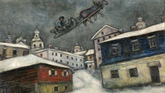 Russian Village di Chagall