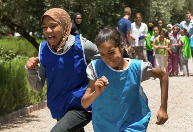 Due piccole sportive di Project Soar Marocco