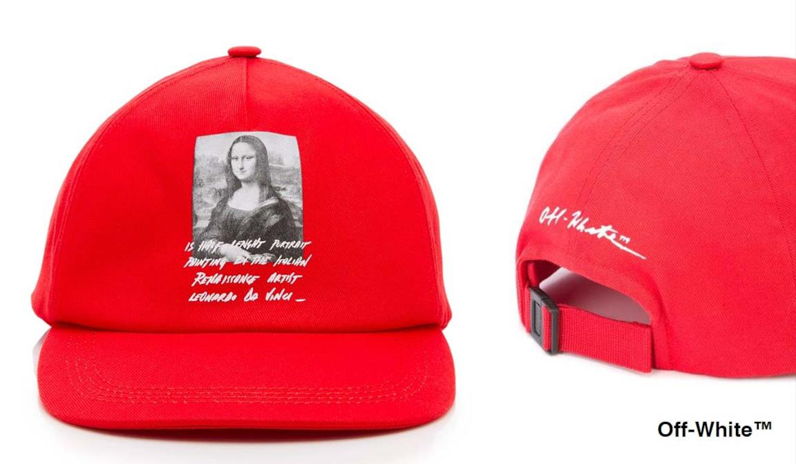cappello con stampa della Gioconda di Leonardo