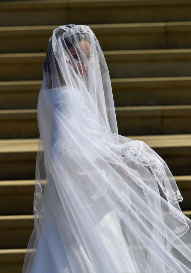 Il velo di Meghan Markle alle nozze con Harry