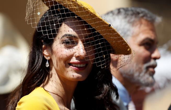 La splendida Amal al Royal Wedding