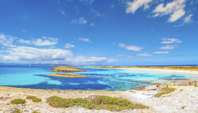 spiagge Ses Illetes, Formentera, isole Baleari