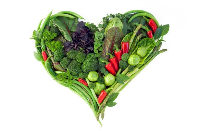 Un cuore di verdure miste