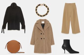 Vestiti, scarpe e borse di Zara autunno inverno 2018
