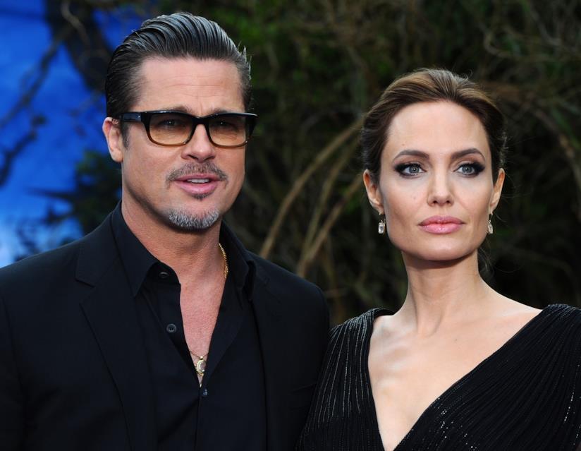 Brad Pitt e Angelina Jolie in primo piano