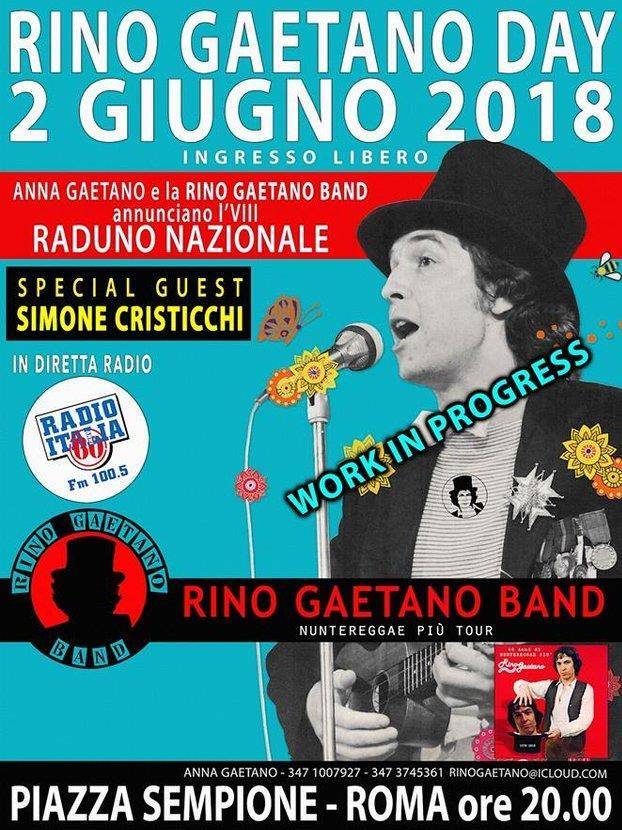 La locandina del Rino Gaetano Day 2018