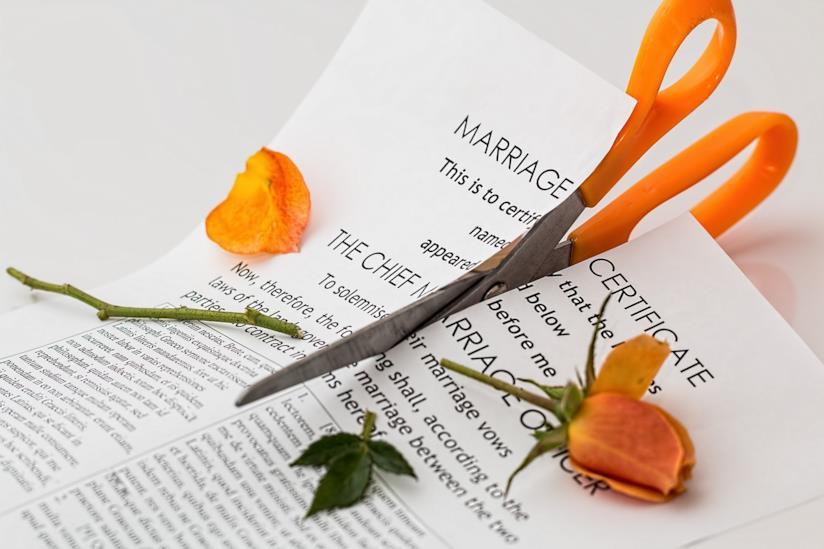Certificato di divorzio.