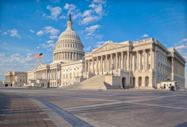 Il Campidoglio di Washington, sede del Congresso degli Stati Uniti