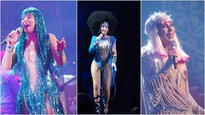 Alcuni dei look sfoggiati da Cher