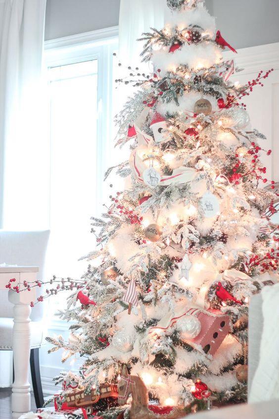 Foto Alberi Di Natale Bianchi.100 Idee E Immagini Per Realizzare L Albero Di Natale
