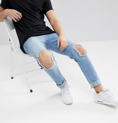 Jeans skinny lavaggio chiaro