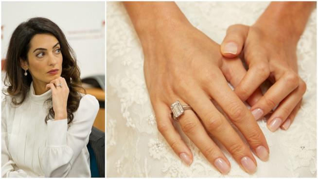 L'anello di fidanzamento di Amal Alamuddin scelto per lei da George Clooney