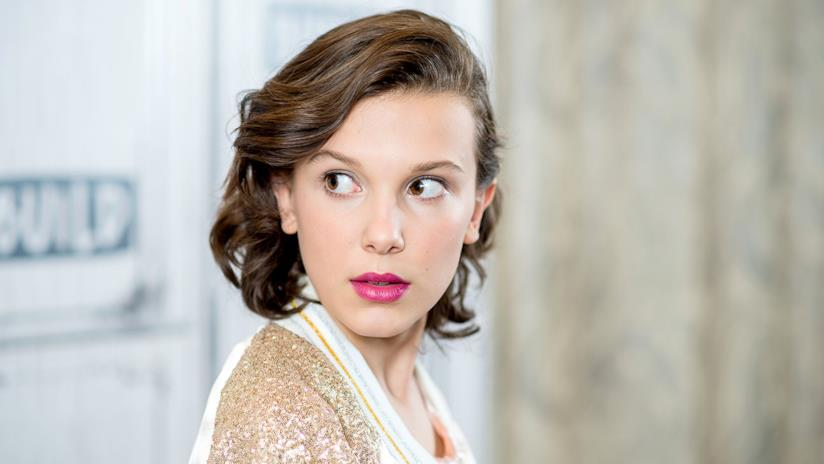 Un primo piano di Millie Bobby Brown