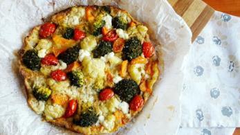 Simil pizza con verdure