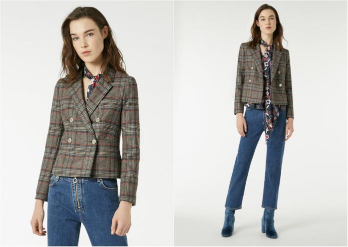 Giacca a quadretti di moda per l'inverno 2018