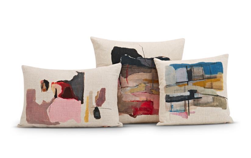 Regali per chi ama l'arte: cuscini Paint