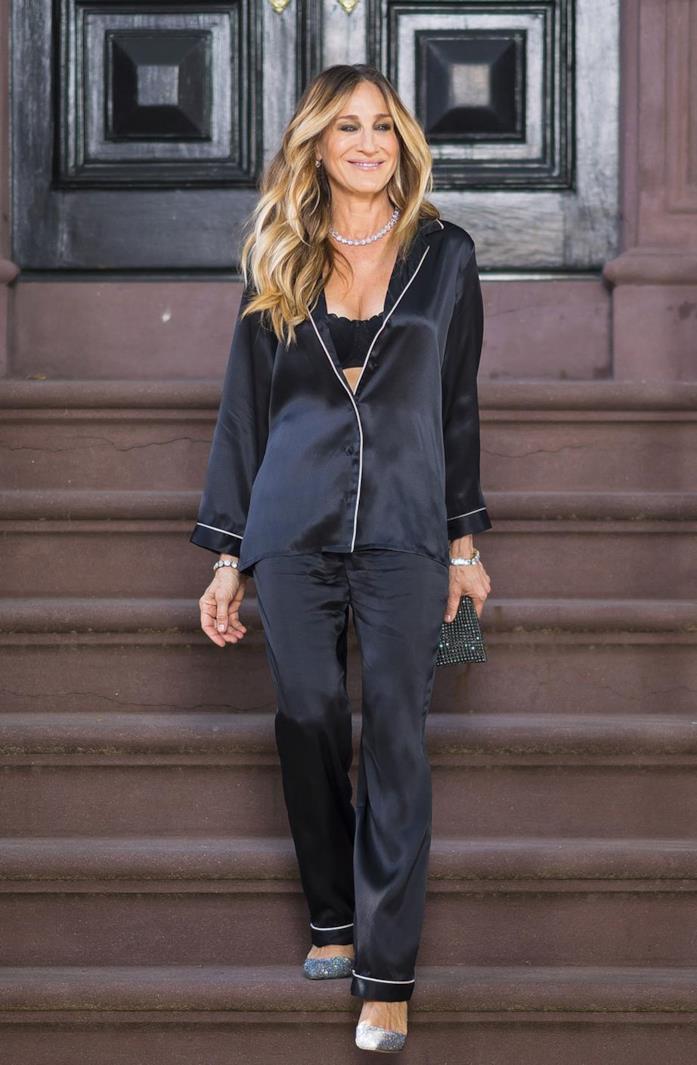 Sarah jessica Parker in pigiama per Intimissimi