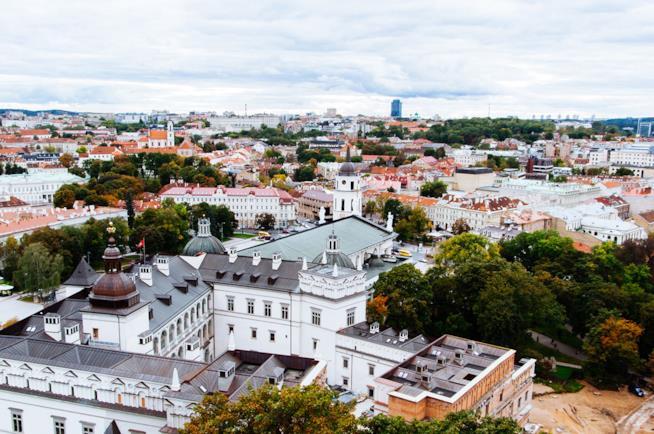Panorama di Vilnius in inverno