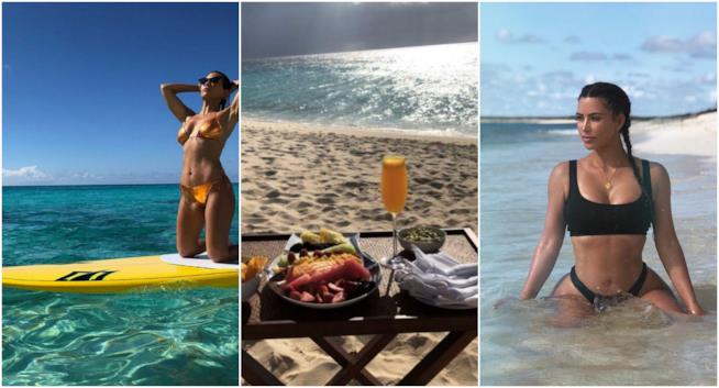 Kim e Kourtney Kardashian in vacanza