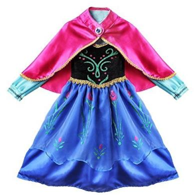 Carnevale Costume Frozen Anna Vestito Bimba